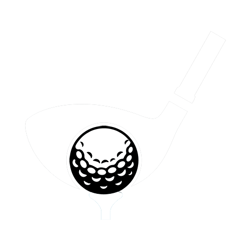 Black and White Golf Club and Ball